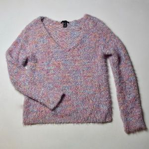 Multi-colored Fuzzy Forever 21 Sweater